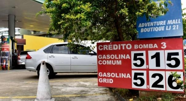 Gasolina atingiu R$ 5,15 em posto de Vila Velha